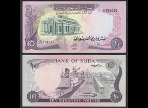 Sudan - 10 Pounds Banknote 1980 Pick 15c aUNC (1-) (23191