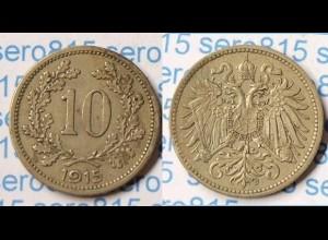 Österreich Austria 10 Heller 1915 (p360