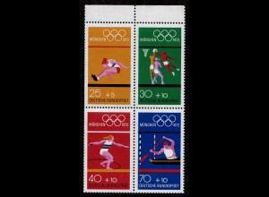 BRD BUND Olympiade 1972 Heftchenblatt HBL 22 postfr. (6792