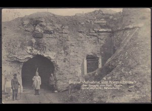 AK BELGIEN Eingang Fort Loucin Feldpost Kriegsschauplatz 1917 nach Nottuln