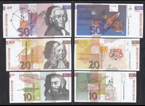 Slowenien - Slovenia 10,20,50 Tolari Banknoten 1992 UNC (23217