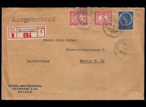 1915 Niederländisch Indien R-Brief WELTEVREDEN nach Berlin (23234