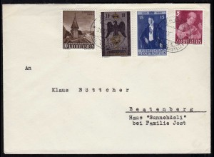 Liechtenstein Brief nach Beatenberg Mi.289,290,346,349 (23240