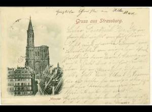 AK Strassburg Elsass Münster 1897 (1214