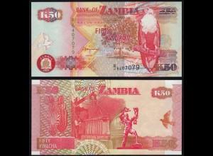 Sambia - ZAMBIA - 50 Kwacha 2001 UNC - Pick 37c (15733
