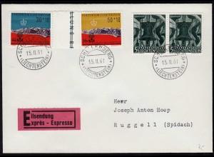 Liechtenstein Expressbrief 1961 Schellenberg - Ruggell (Spidach) (23260