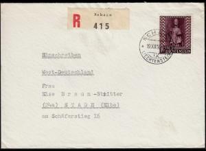 Liechtenstein R-Brief 1959 Schaan - Stade EF Mi.388 (23262