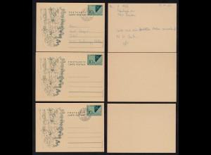 Liechtenstein 3 Stück Ganzsachen Postkarten 1965 (23263