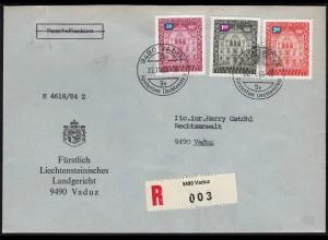 Liechtenstein R-Orts-Dienstbrief 1984 (23264