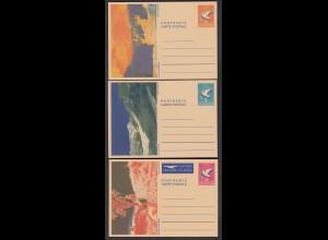 Liechtenstein 3 Stück Ganzsachen Postkarten ungebraucht 1984 (23265