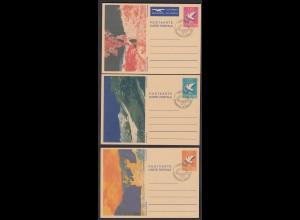 Liechtenstein 3 Stück Ganzsachen Postkarten Ersttagstempel 1984 (23266