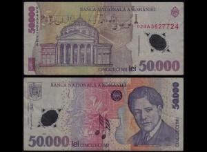 Rumänien - Romania 50000 50.000 Lei Banknote 2001 Pick 113 VF (3) (23345