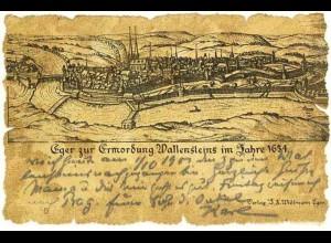 AK Spezialkarte Eger 1900 Böhmen Ermordung Wallenstein im Jahre 1634 (0999