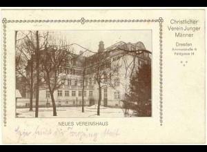 AK 1920 Sachsen Dresden Vereinshaus Christlicher Junger Männer (0981
