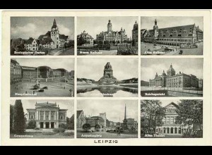 AK 1939 Sachsen Leipzig Mehrbildkarte (0959