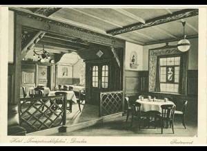 AK Sachsen Dresden Hotel Innen Restaurant Trompeterschlöösschen (0929