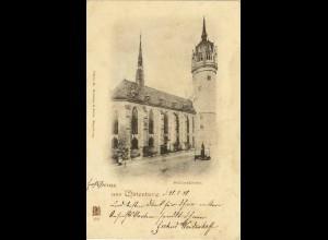 AK 1898 Sachsen-Anhalt Luther-Stadt Wittenberg Schlosskirche (0920