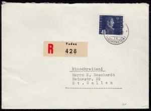Liechtenstein R-Brief 1949 nach St.Gallen Mi. 261 (23032