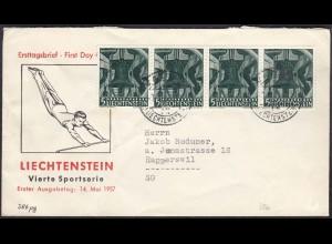 Liechtenstein Brief 1949 nach Rapperswil Mef Mi. 386 (23046