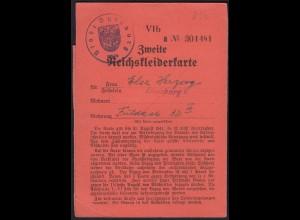 2. Reichskleiderkarte 3.Reich 1940 Stadt Duisburg (23047