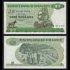 Simbabwe - Zimbabwe 5 Dollars 1983 Pick 2c UNC (17896