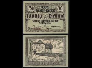 Warburg Westfalen 50 Pfennig Notgeld 1920 XF+ (17528