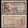KENIA - KENYA 5 Shillings Banknote 1967 Pick 1b F+ (4+) (17525