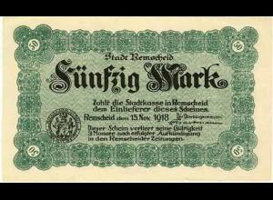 Rheinland - Remscheid 50 Mark Banknote 1918 Notgeld (12700b