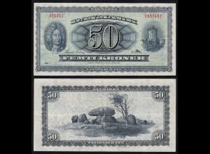Dänemark - Denmark 50 Kroner 1956 Pick 45a VF (3) (17549