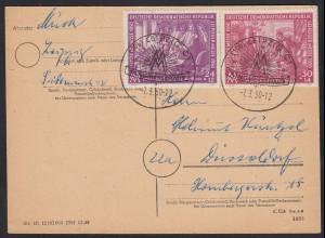 DDR Karte Leipziger Messe 248/49 SST 1950 (17610