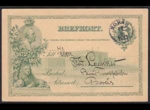 Schweden - Sweden 1897 Brefkort von BORAS Provinz Västergötland (17614