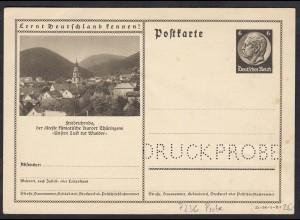Deutsches Reich Ganzsache P236 Probe Friedrichsroda (17615