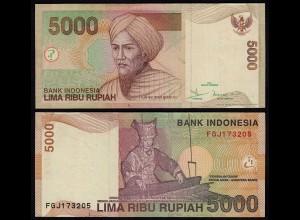 Indonesien - Indonesia 5000 Rupiah Banknote 2001 VF (3) Pick 142 (23419
