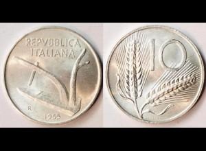 Italien - Italy - 10 Lira 1955 UNC (r503
