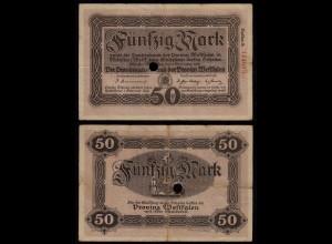 Westfalen - PROVINZ WESTFALEN Münster 50 Mark 1918 Reihe A Notgeld (23424