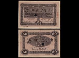Westfalen - PROVINZ WESTFALEN Münster 50 Mark 1918 Reihe B Notgeld (23425