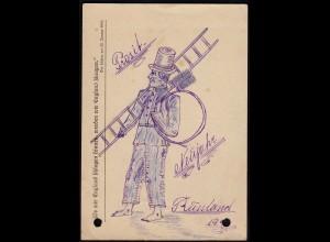 AK Handgemalt 1941 Feldpost Neujahr aus Russland (23440