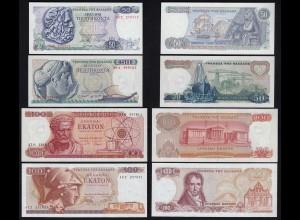 Griechenland - Greece 50,50,100,100 Drachmai 1964-1978 UNC (1) (23457