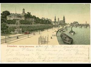 AK Sachsen Dresden 1907 Königliche Belvedere (0891