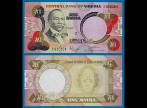 Nigeria 1 Naira Banknote (1984) sig.6 Pick 23a UNC (1) (18123