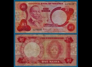 Nigeria 1 Naira Banknote sig.4 Pick 19a F (4) (18174