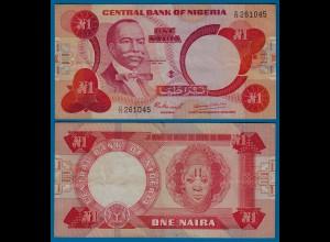 Nigeria 1 Naira Banknote sig.4 Pick 19a VF (3) (18175