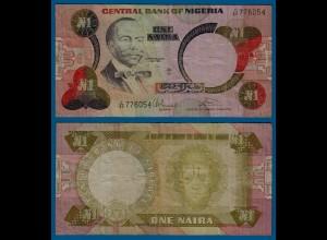 Nigeria 1 Naira Banknote Pick 23b etwa VF (3) (18177