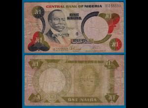 Nigeria 1 Naira Banknote Pick 23b etwa F (4) (18178
