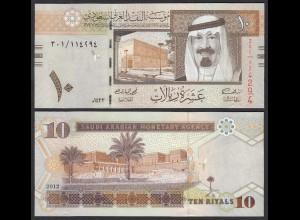 SAUDI ARABIEN - SAUDI ARABIA 10 Riyals 2012 Pick 33c UNC (1) 21893