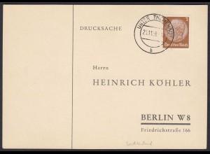 Sudetenland Stempel Unter Themenau 1938 auf Karte (21887