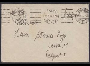 Feldpost-Brief 1.WK Heimat-Feld 5 1917 mit Inhalt (21890