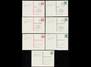 Berlin 7 Stück Ganzsachen B&S * + teils Ersttag + Antwortkarten GELEGENHEIT (23576