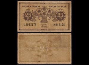 FINNLAND - FINLAND 25 PENNIA BANKNOTE 1918 PICK 33 F (4) (23578