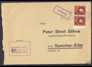 Brief Posthilfstelle Köllig über Saarburg (4301